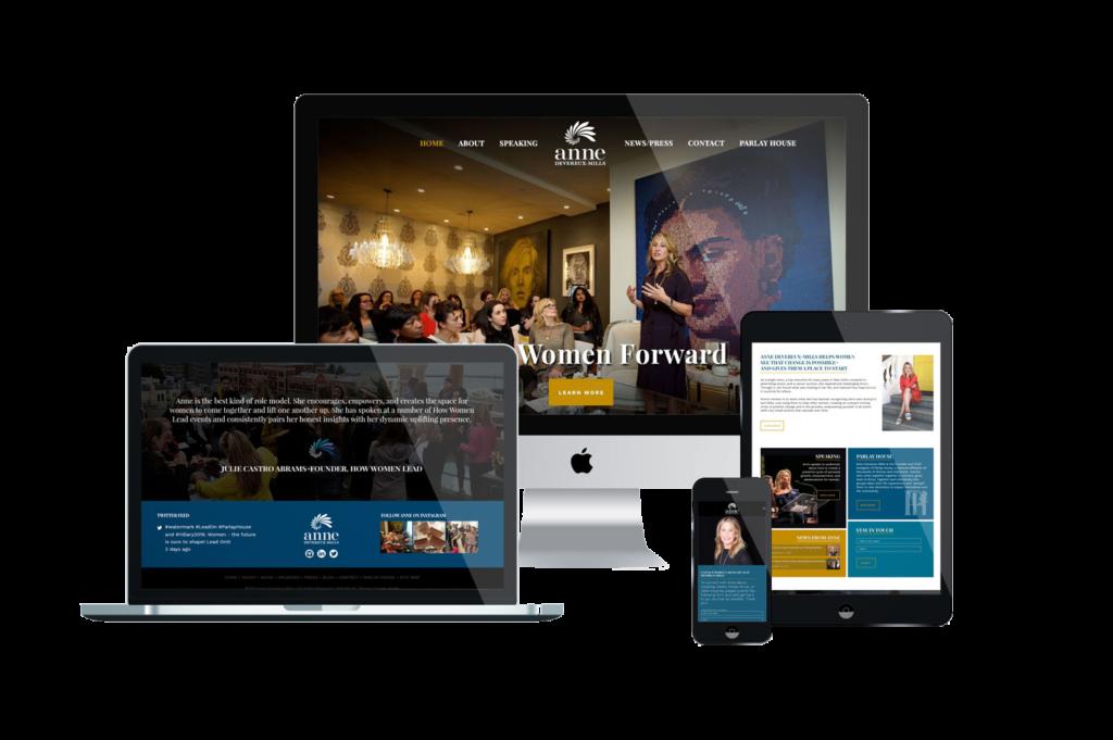 Anne Devereux-Mills Website Design