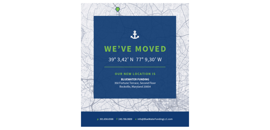 We've Moved - Bluewater Funding