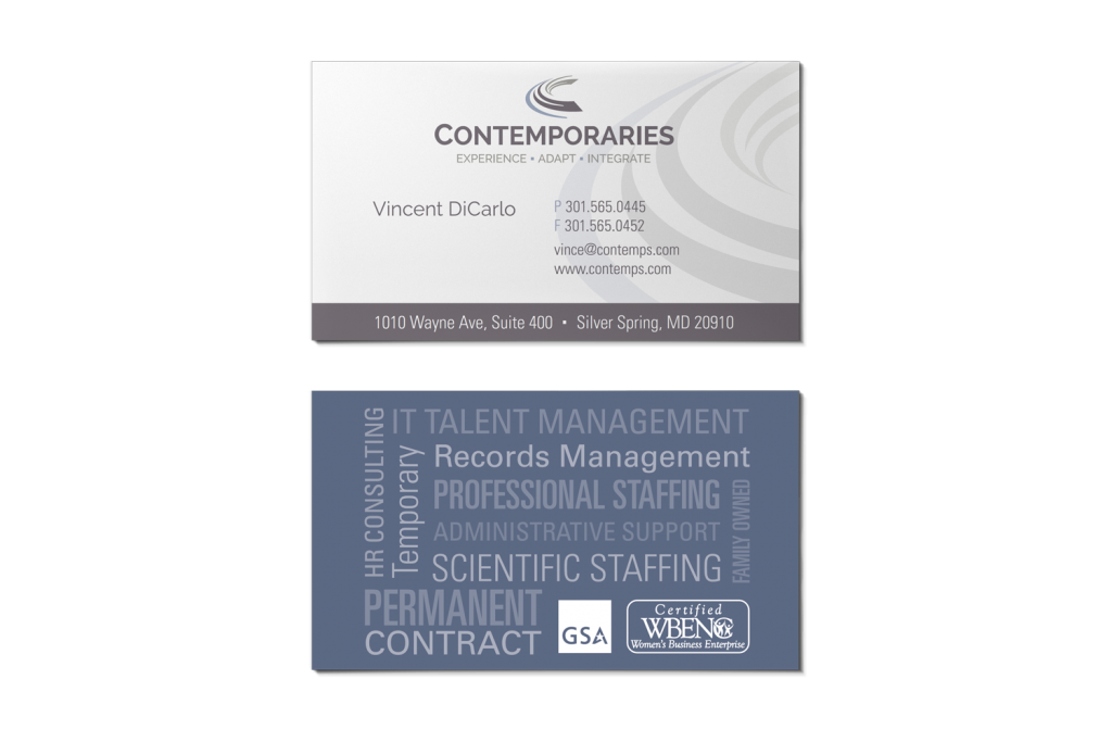 Contemporaries Business Card