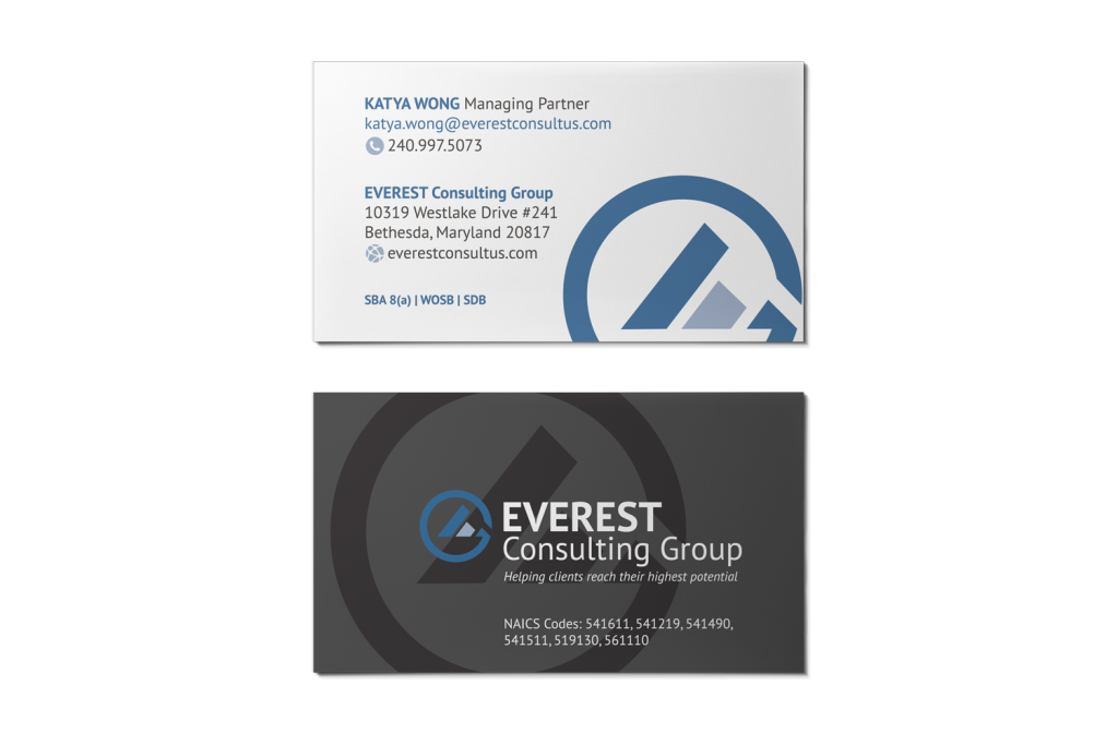 Everest Consulting Group Business Cards