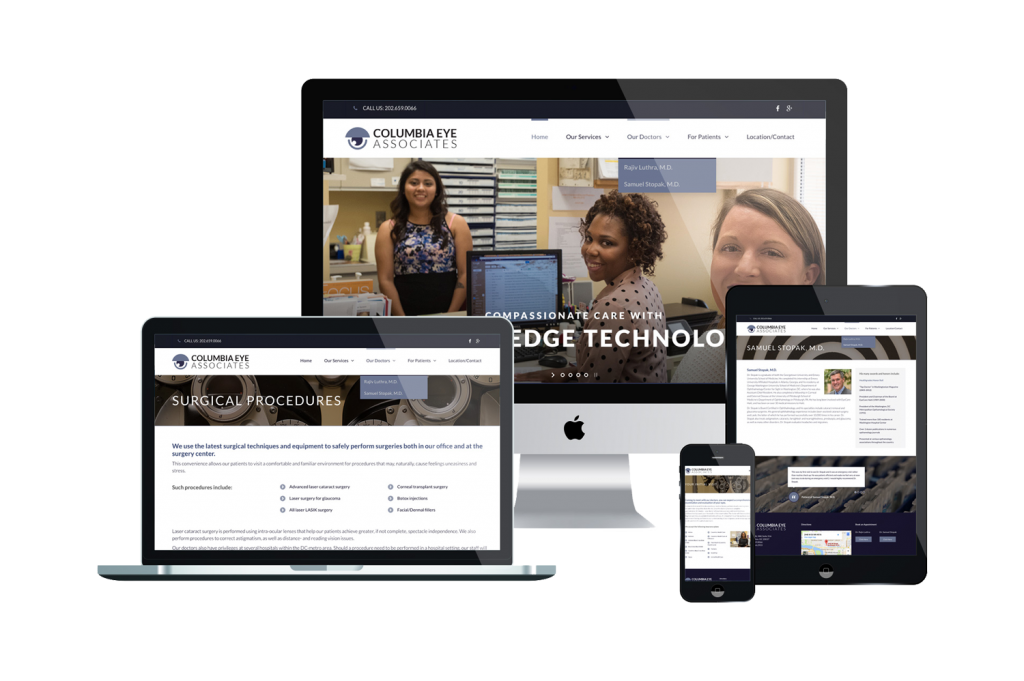 Columbia Eye Associates Website on Devices