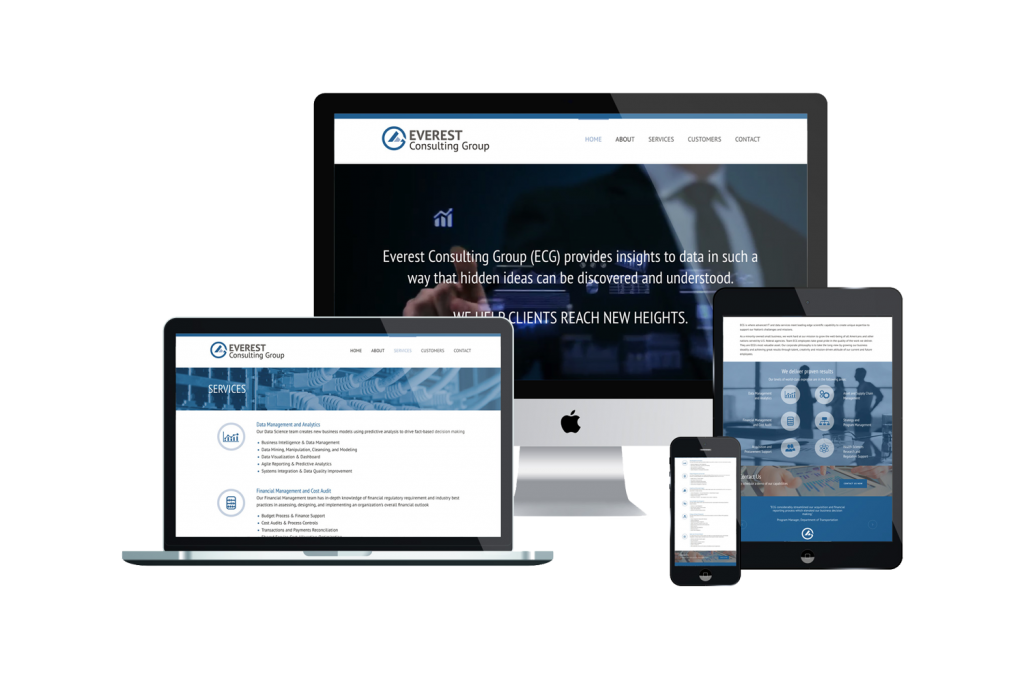 Everest Consulting Group Website on Different Devices
