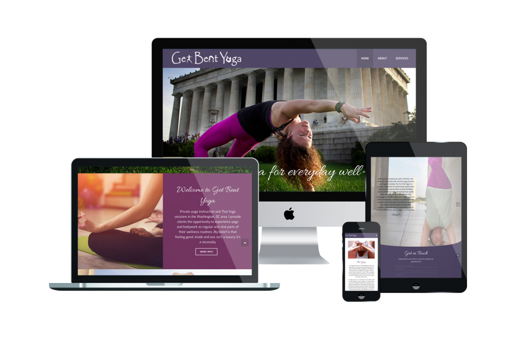 Get Bent Yoga Website Design