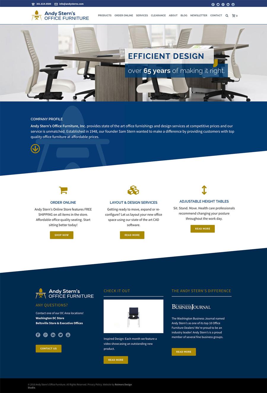 Andy Stern's Furniture Website Design