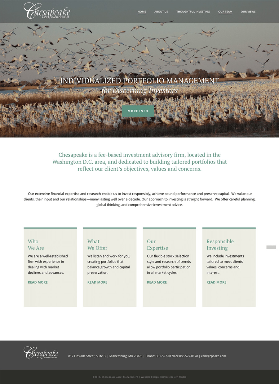 Chesapeake Asset Management Individualized Portfolio Management