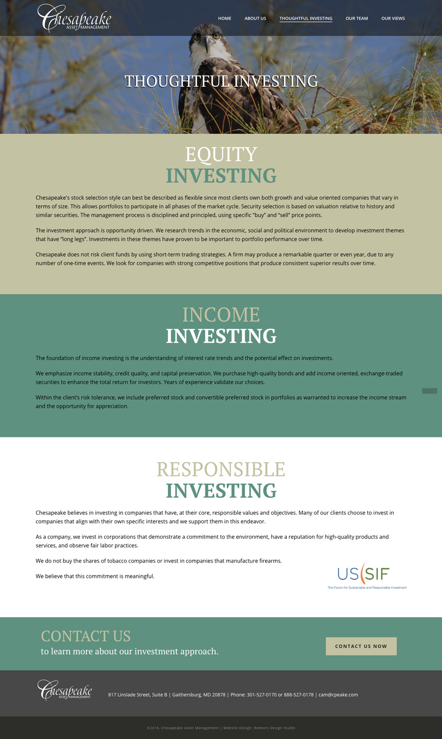 Chesapeake Asset Management Thoughtful Investing