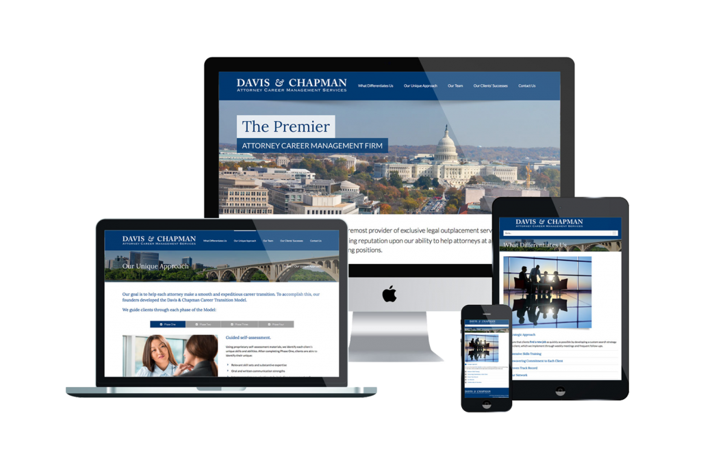 Davis and Chapman Website on Different Devices