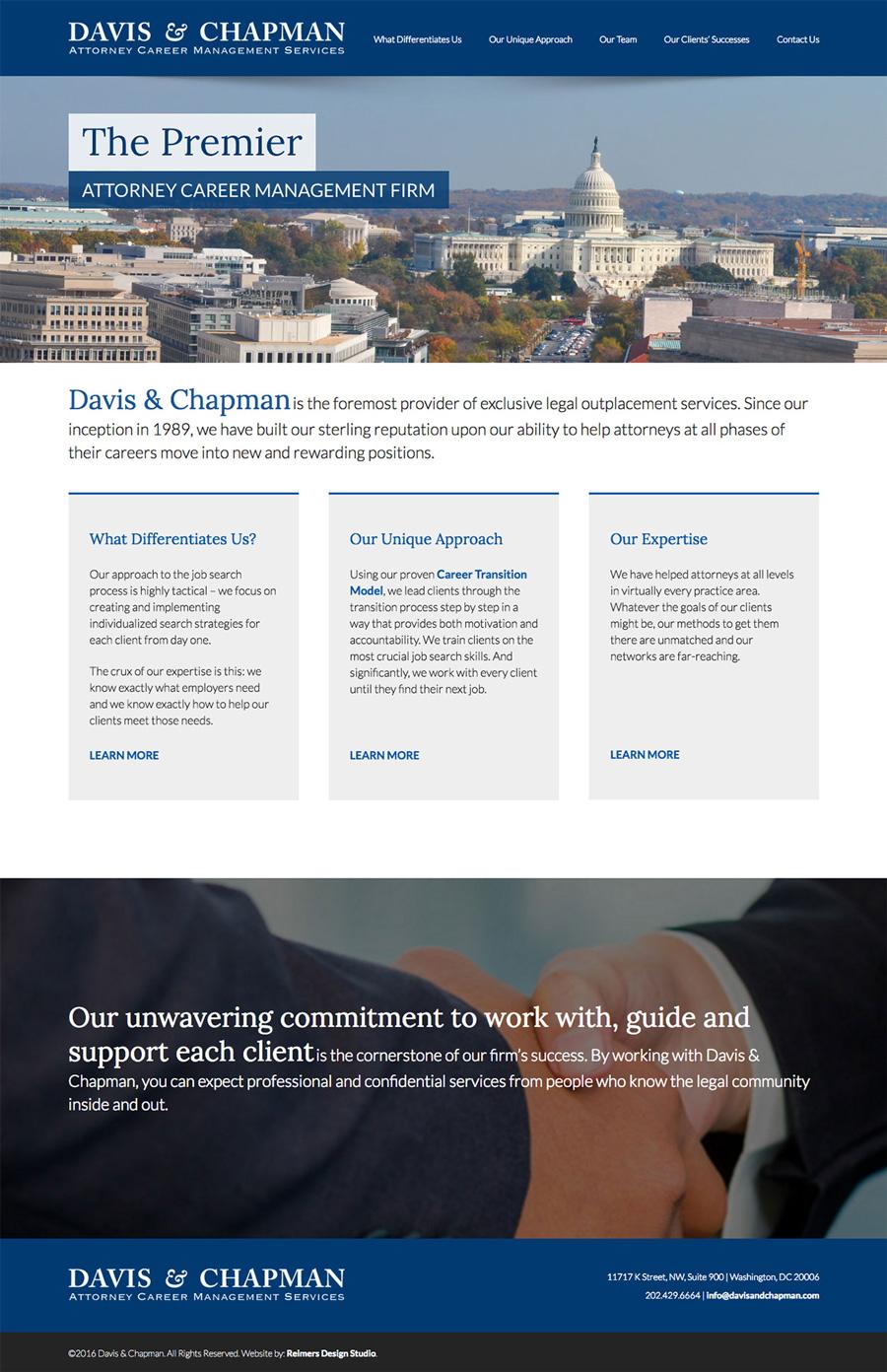 Davis and Chapman Website Design
