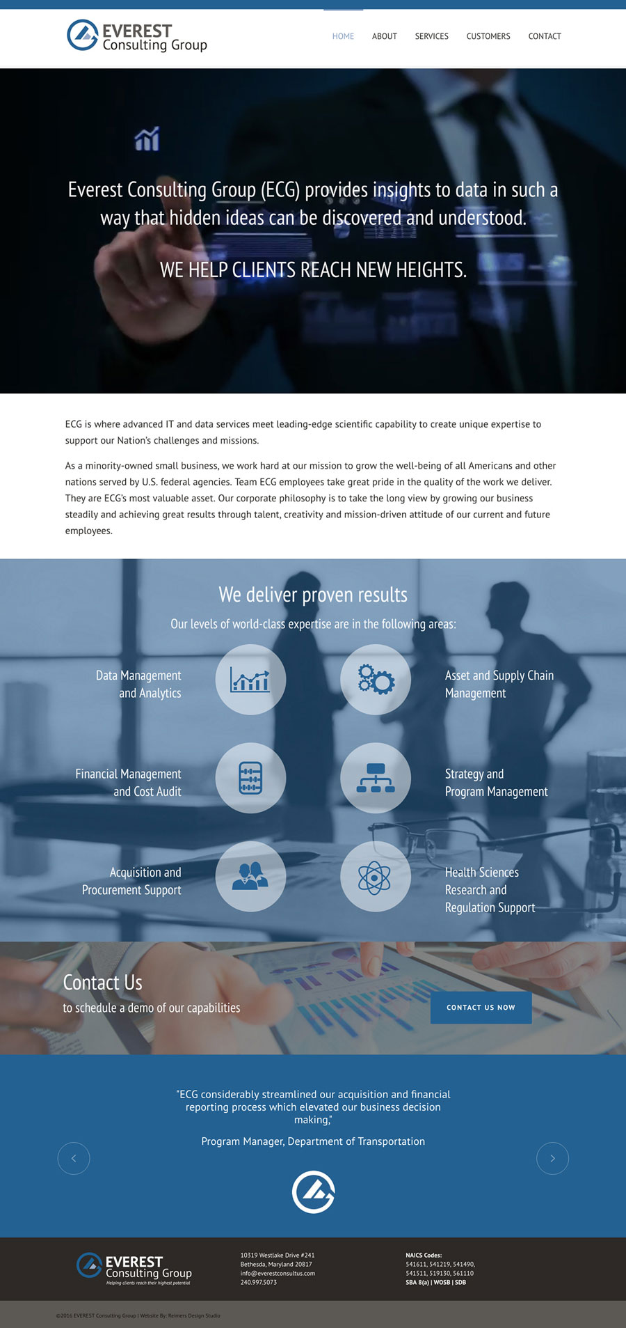 Everest Consulting Group Website Design