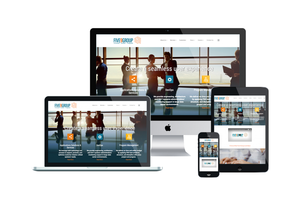 Five9Group Website on Different Devices