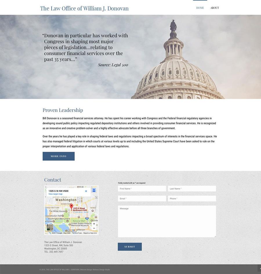 Law Office of William J. Donovan Website Design
