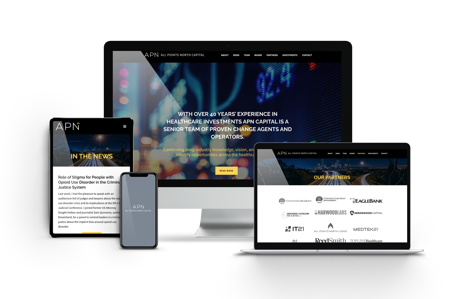 APN Capital Website on Different Devices