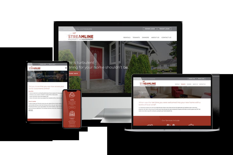 Streamline Property Management Website on Different Devices Design
