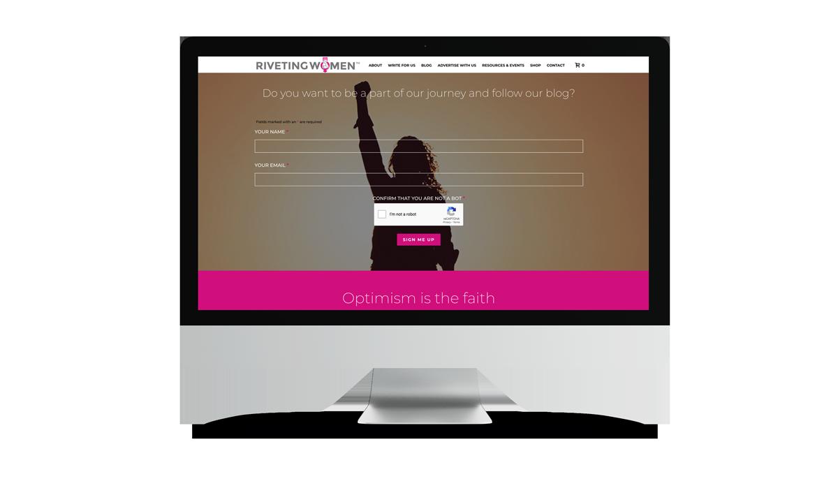 Riveting Women Website Design