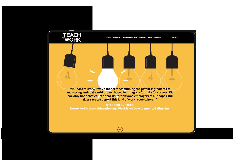 Teach to Work Website Design
