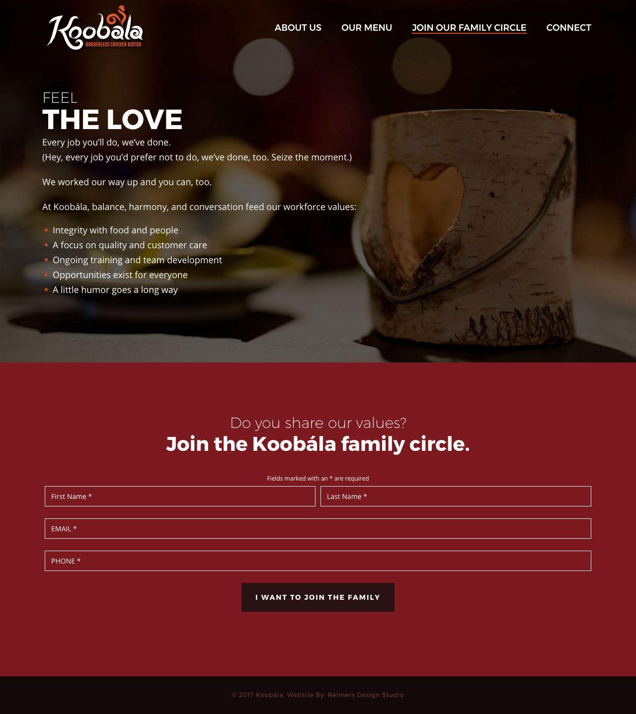 Koobala Website Design