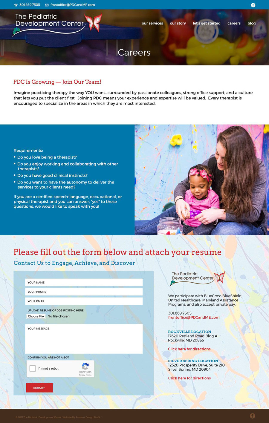 The Pediatric Development Center Website Design
